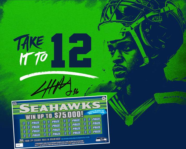 Washington's Lottery - Seahawks Scratch