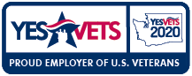 Yes Vets - Proud Employer of U.S. Veterans graphic.
