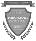 Washington State Government Choice Employer Silver Performance Management Badge
